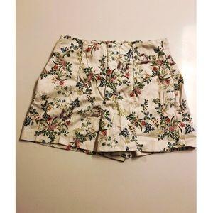 Zara high waisted floral print shorts